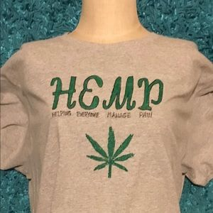 Hemp T-shirt! Unisex! Hand Painted! One Of A Kind!
